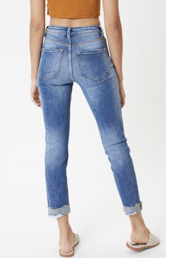 Hem detail straight Jean- high rise