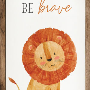Be Brave Lion – Kendrick Home Wood Sign