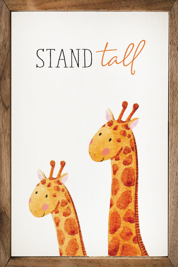 Stand Tall Giraffe– Kendrick Home Wood Sign