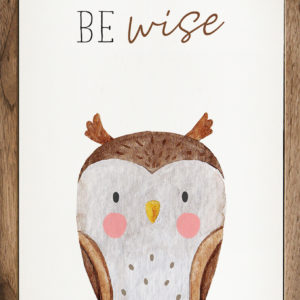 photo of Be Wise Owl - Kendrick Home Wood Sign, Shop Iowa