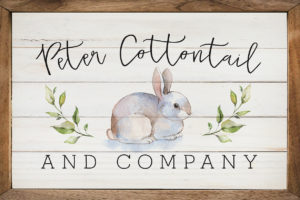 photo of Peter Cottontail – Kendrick Home Wood Sign, The Markket, Shop Iowa