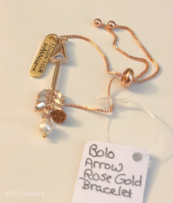 Rose Gold Arrow Bolo Adjustable Bracelet