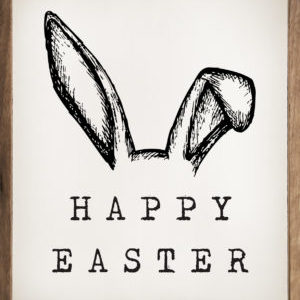 photo of Happy Easter Bunny Ears- Kendrick Home Wood Sign, The Markket, Shop Iowa