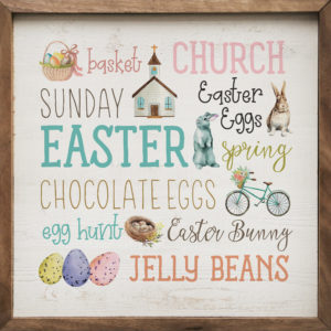 Easter Words - Kendrick Home Wood Sign