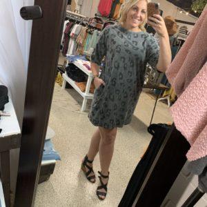 Short Sleeve Cheetah Dress