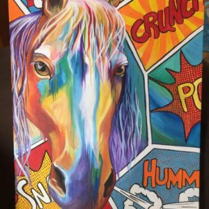 Horse Pop! Painting by Deb Weiser