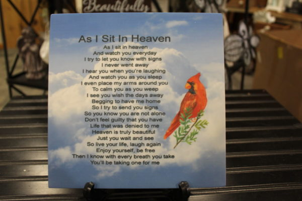 As I Sit in Heaven Corian Tile 8×8