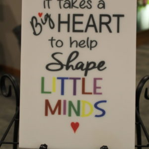 It Takes A Big Heart 6.5 x 9.5 Tile
