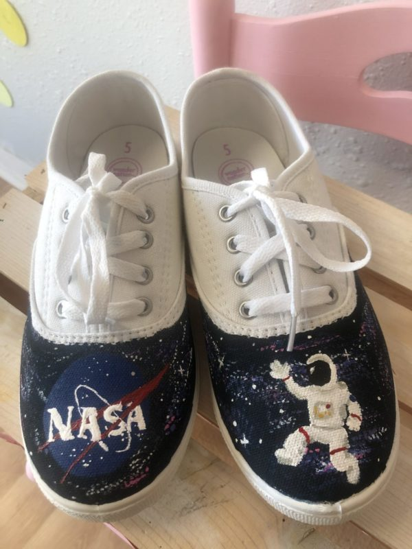 Custom painted Kid's Shoes
