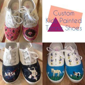 Custom painted Kid's Shoes