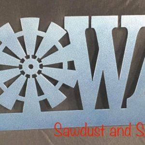 Iowa Windmill metal sign