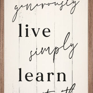 Love Live Learn – Kendrick Home Wood Sign
