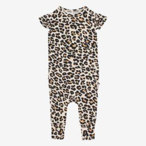 photo of Posh Peanut – Ruffled Cap Sleeve Romper – Lana Leopard, A Heavenly Celebration, Shop Iowa