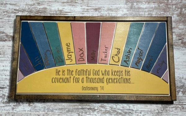 Rainbow Sunrays Wood Sign – Personalized