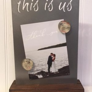 """This is us"" magnetic photo board"
