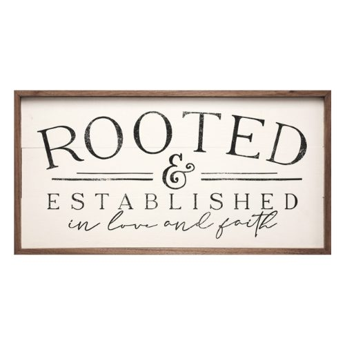 Rooted – Kendrick Home Wood Sign