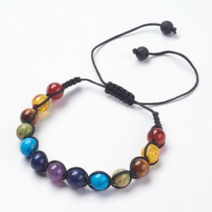 Gemstone Chakra bracelet adjustable to fit both men and women