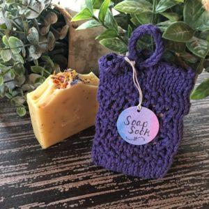 Hand-knit Soap Sock