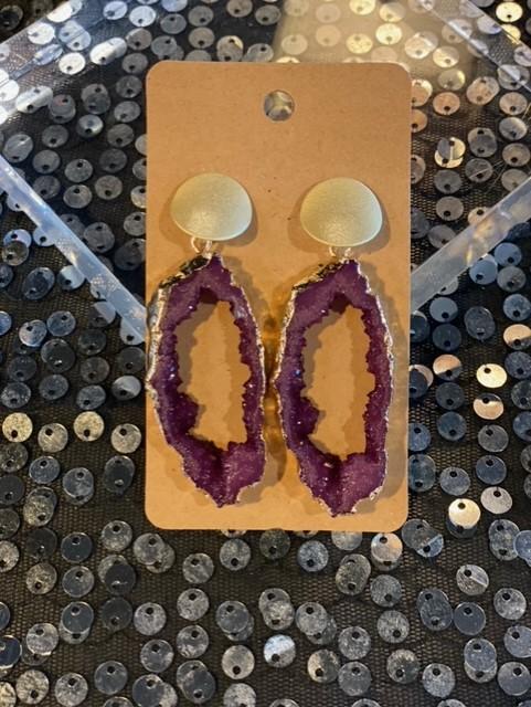Crystal Geo Dangle Earrings