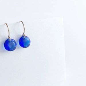 Crystal Birthstone Drop Earrings