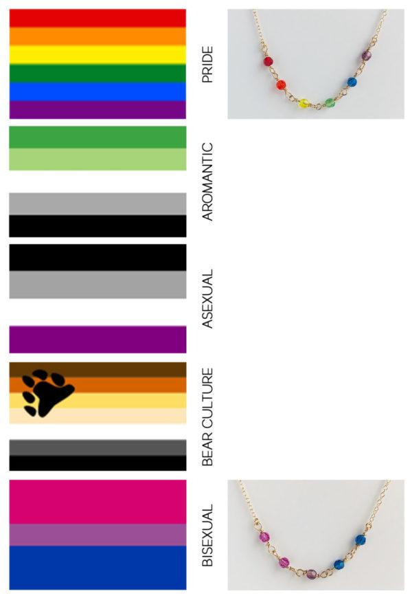 LGBQTI+ Crystal Bead Necklace