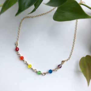 LGBQTI+ Crystal Bead Necklace