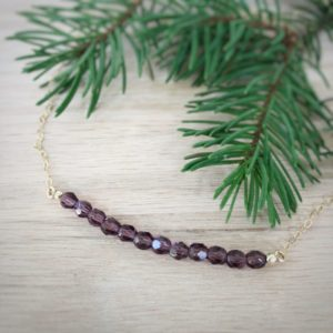 Birthstone Crystal Bead Necklace