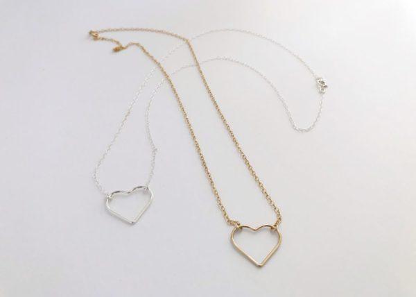 Open Heart Pendant Necklace