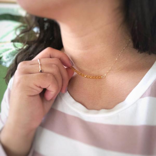 Birthstone Crystal Bead Necklace