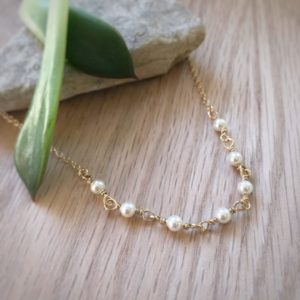 Nacar Swarovski Pearl Necklace