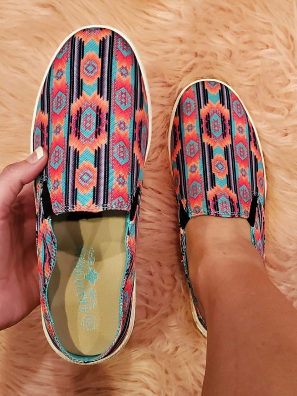 Neon Aztec Slides
