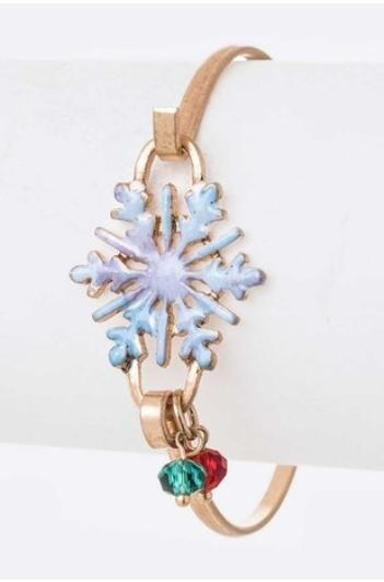 Snow Crystal Clasp Bracelet