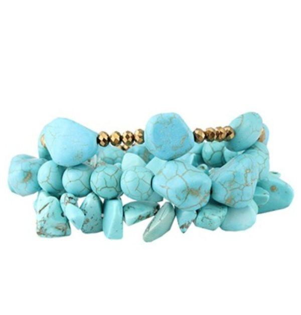 Turqoise Cluster Bracelet