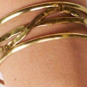 Antique Gold Adjustable Cuff Bracelet