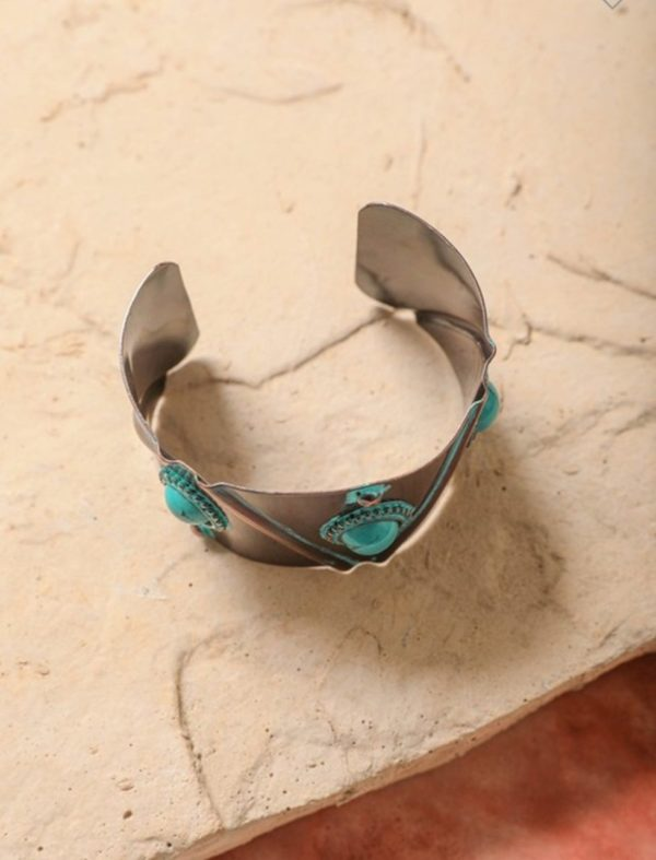 Turquoise Stone Studded Cuff