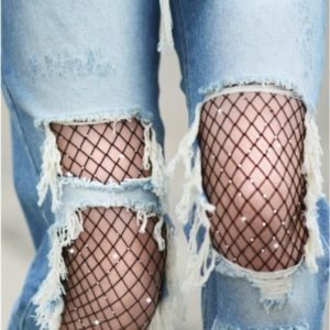Shine Bright Scattered Rhinestone Fishnets