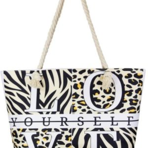 Love Yourself Jungle Print Tote