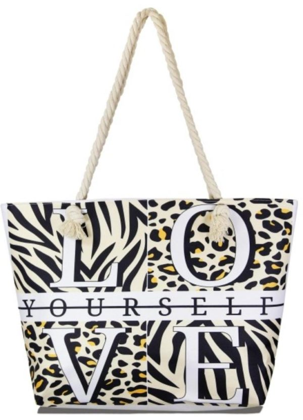 Love Yourself Jungle Print Tote