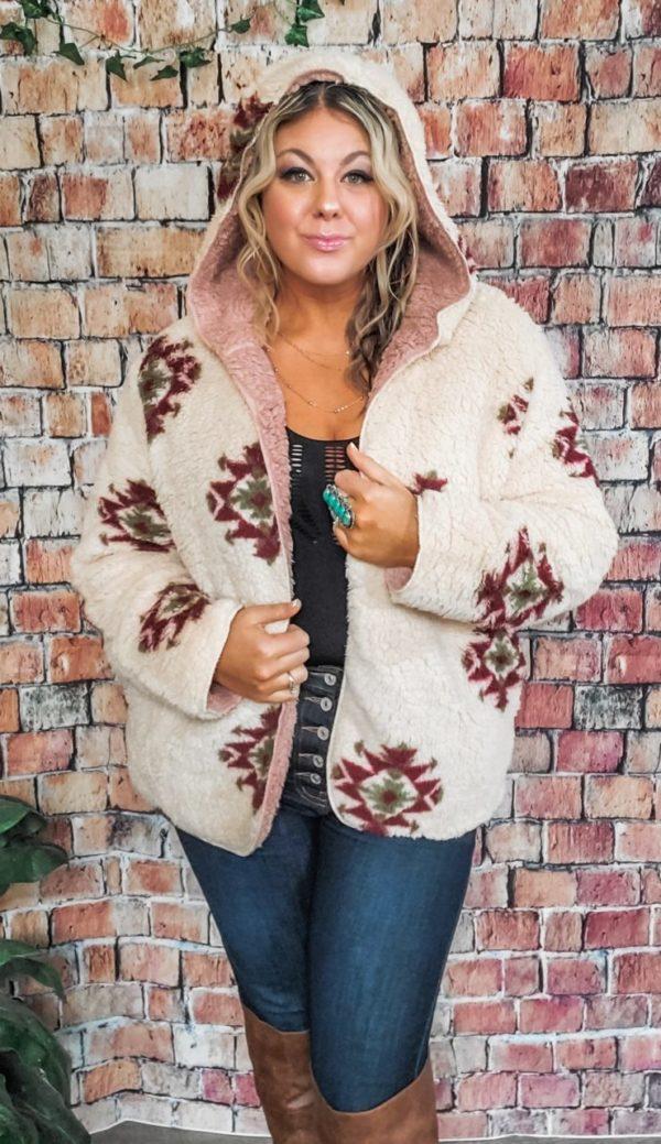 Telluride Aztec Sherpa Coat