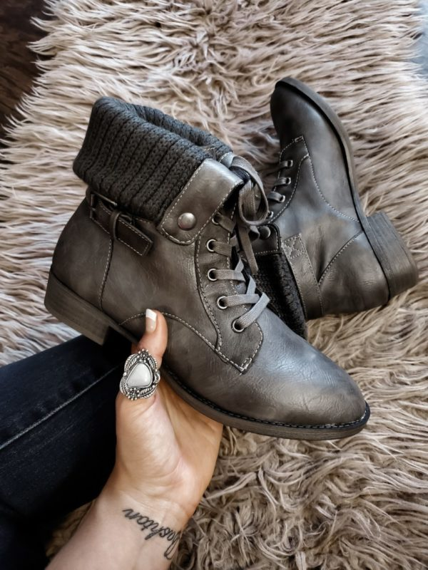 Chandra Fold Over Combat Boots