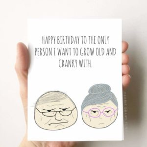 BEST SELLER! Old & Cranky Funny Birthday Card Husband Wife