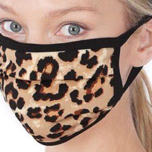 Brown Leopard Cotton Mask