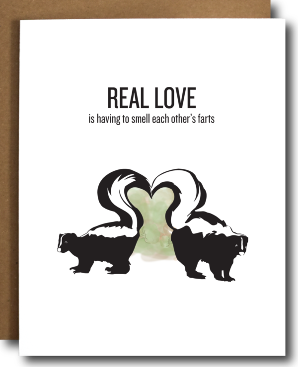 Funny Love Card Stinky Skunk Love