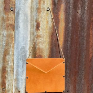 Genuine Leather Square Wall Pocket