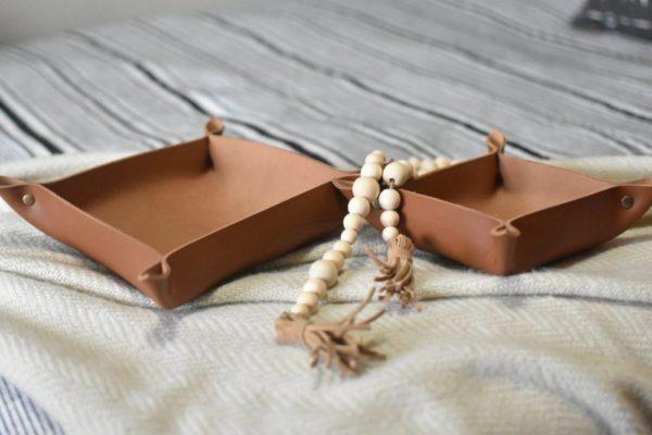 wooden bead garland