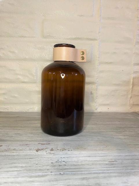 Amber Medicine Bottle Vase