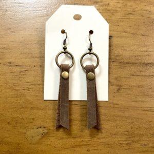 Genuine Leather Fringe Earrings