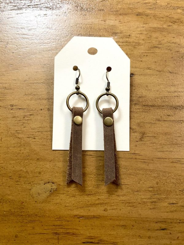 Genuine Leather Fringe Earrings