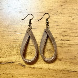 Open leather hoops