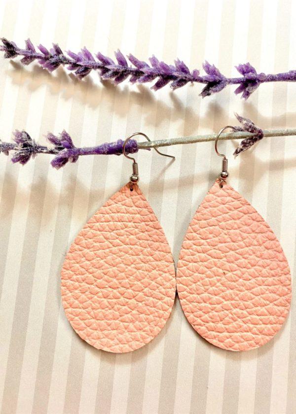 Rose Pink Teardrop Earrings
